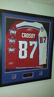 Magnifique chandail encandré Sidney Crosby framed jersey