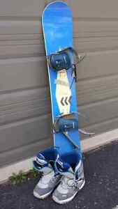 Complete Snowboard, Bindings and Boots