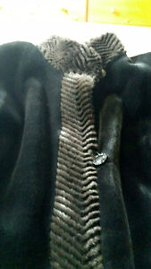 Used Wool coat size Large with fur collar and cuffs. St. John's Newfoundland image 3