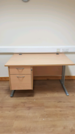 Computer desk and drawer