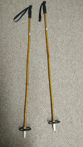 Pair of Vintage late 60s Bamboo Ski Poles - Canadian Tire