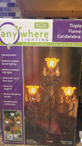 Candelabra battery operated
