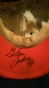 Glenn Anderson signed oilers hat