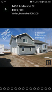 BEAUTIFUL VIRDEN, MB HOME FOR SALE