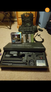 Empire Battle Tested D'Fender Paintball Gun and accessories
