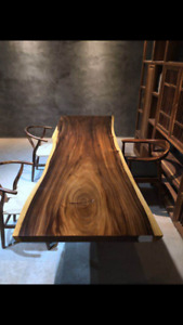 Black walnut full slab Live Edge tables for sale