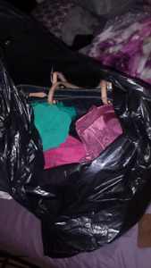 Huge bags full of brand name clothing