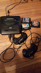 For sale sega genesis system all cords 2 controllers and games