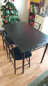 Dining Table with 3 Chairs **$50**