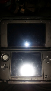 3DS XL with soft nerf case, screen protectors and stylus'