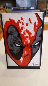 Reverse Glass Hand Painted Marvel Dead Pool