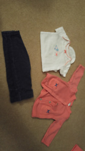 Baby girl outfit sets, size 3 months (5 pcs, matching sets)