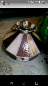 STAINED GLASS CEILING LAMP $10!