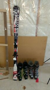 Skiis and boots for sale