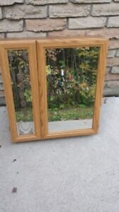 STAINED GLASS BATHROOM CABINET