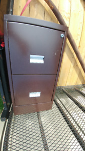 Filing Cabinet - metal 2 drawer vertical files storage