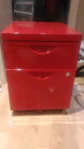 Ikea red filing cabinet