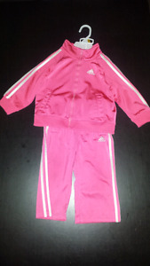 Adidas 24 month/ 2T pink tracksuit