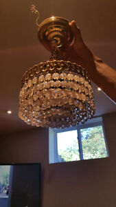 Semi-flush retro crystal luster chandelier!