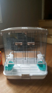 Cage and budgie