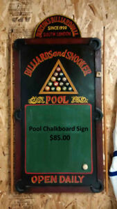 Billiards and Snooker Sign For Sale