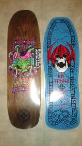 Brand new reissue skateboard decks