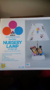 Minnie and Mickey Nursery Lamp with night light - mint condition