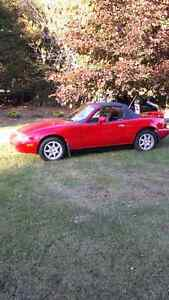 1996 Mazda MX-5 Miata Red Convertible
