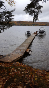 Cottage wood docks 64' with 8' ramp+stairs