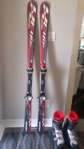 Mens Downhill Skis and Boots