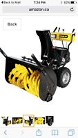 Brand new  Heavy Duty Stanley Snow Blower