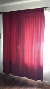 thermal back burgundy/red curtains