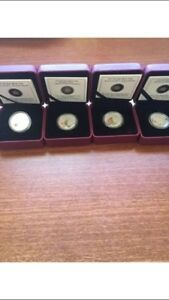 Complete set heroes 1812 fine silver coins