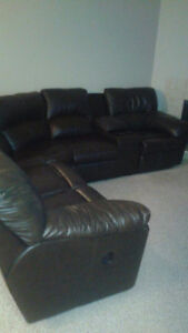 gorgeous leather sectional with recliners