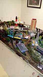 Ho scale train set layout