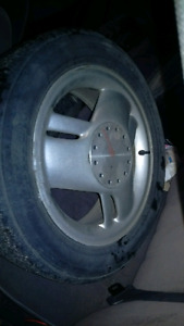 """16"""" wheels and tires - set of four 205/55R16 5x100"""