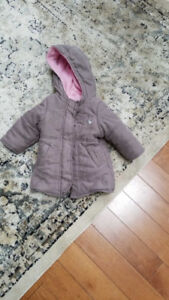 Girls fall winter coat 6 to 9 months