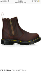 Brand new in box. Faux fur lined dr martens boot, size 7 & 8
