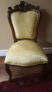 """Antique Victorian Gentleman and Ladies Parlor Chair"""