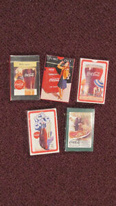 REDUCED Lot of 5 UNUSED & Different Coca-Cola Playing Card Decks
