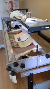 Quilting Frame and 1600P Professional Janome Sewing Machine
