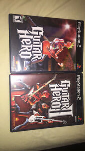 PlayStation 2 Guitar Hero 1 & 2 Games