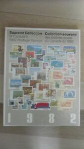SOUVENIR COLLECTION Of Mint Sets Of Postage Stamps Of Canada.
