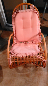 Wooden/bamboo rocking chair