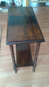 Refinished accent table and foot stool $ 25 each