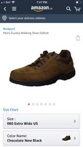 New Rockport mens Eureka size 8