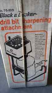 Drill bit sharpening attachment for drill bits