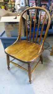 Old Wooden Kids Chair Sturdy