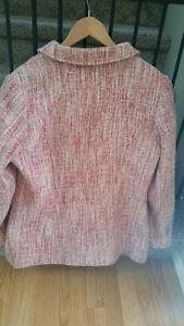 Ladies Pink Tweed Peacoat-Size Medium-Gently Worn-$20 Strathcona County Edmonton Area image 2