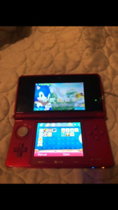 Like new Nintendo 3DS -red with charger